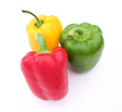 Red, yellow & green peppers Royalty Free Stock Photography