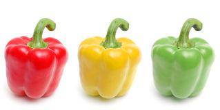 Red, yellow and green peppers Stock Photography