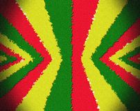 Red, yellow, green rasta flag Stock Image