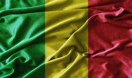 Red, yellow, green rasta flag ,vintage style Royalty Free Stock Photos