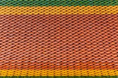 Red-yellow-green roof surface, orange roof pattern with light and shadow for background stock photo