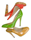Red yellow green shoes Stock Image