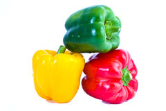 Red, yellow, green sweet paprica pepper Royalty Free Stock Image