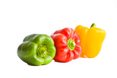 Red, yellow, green sweet paprica pepper Royalty Free Stock Images