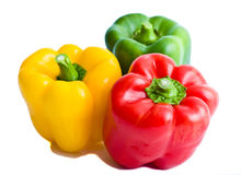 Red, yellow, green sweet paprica pepper Stock Photo