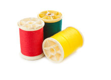 Red yellow green thread Royalty Free Stock Photo