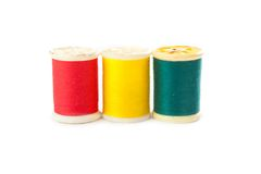 Red yellow green thread Royalty Free Stock Image