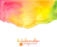 Red-yellow-green watercolor vector background. Red, yellow, green watercolor textured vector background royalty free illustration