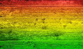 Red yellow and green wood Royalty Free Stock Photos