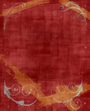 Red & Yellow Grunge Background. A textured red and yellow grunge background/frame Royalty Free Stock Images