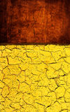 Red yellow grunge texture. Grunge texture in red yellow colors. Cracked dry background Stock Photo