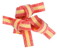 Red and yellow gummy candy (licorice) band Royalty Free Stock Photography