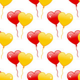 Red & Yellow Heart Balloons Seamless Royalty Free Stock Photo