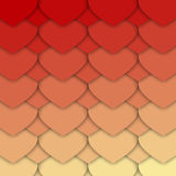 Red and Yellow Hearts Pattern. Red and Yellow Pattern Made of Paper Like Hearts. Can be Used as an Template, Book Cover in Web Design. Vector EPS 10 Royalty Free Stock Photography