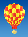 Red and yellow hot air balloon Royalty Free Stock Photo