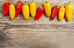 Red and yellow hot chili peppers Royalty Free Stock Photography
