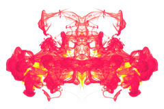 Red and Yellow ink abstract Stock Images