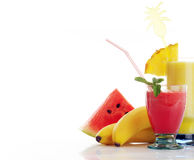 Red and yellow juice Stock Images