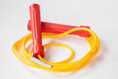 Red yellow jump rope Royalty Free Stock Photos