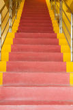 Red and yellow ladder Stock Photo