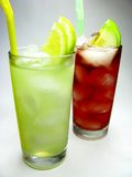 Red and yellow lemonade Royalty Free Stock Photography
