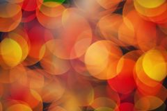 Red and yellow lights background Royalty Free Stock Photo