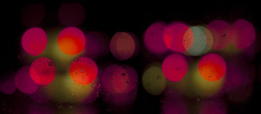 Red and yellow lights Royalty Free Stock Images
