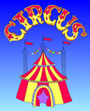 Red and yellow line art drawing of circus tent on Royalty Free Stock Photography