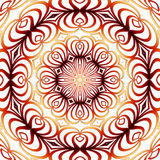 Red-yellow mandala. Abstract ornamental mandala in red, yellow and white color Royalty Free Stock Image