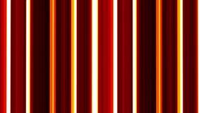 Red and yellow moving vertical lines on black background. VJ loop. Striped backdrop. stock footage