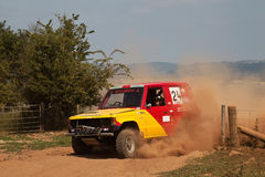 Red & Yellow off road racer Stock Images
