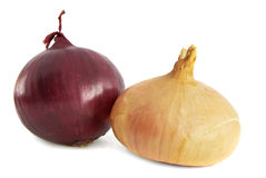 Red and yellow onions Royalty Free Stock Photos