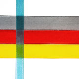 Red, yellow, orange, blue shiny gradient ribbons Royalty Free Stock Photography