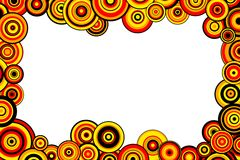 Red, yellow and orange circles Royalty Free Stock Images