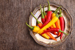 Red yellow orange green pepper Royalty Free Stock Photography