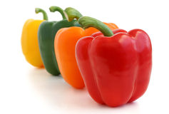Red, yellow, orange and green peppers Royalty Free Stock Images