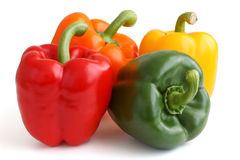 Red, yellow, orange and green peppers Royalty Free Stock Image