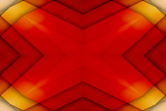 Red and yellow overlapped star Stock Photos