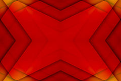 Red and yellow overlapped star Royalty Free Stock Images