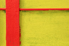 Red and Yellow Painted Wall Stock Images