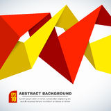 Red and yellow Paper Origami Polygonal Shape vector background Royalty Free Stock Images