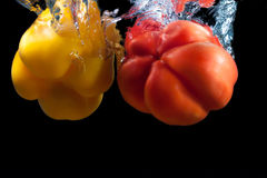 Red and yellow paprika. Royalty Free Stock Photography
