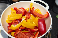 Red and yellow paprika Royalty Free Stock Photo