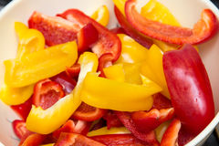 Red and yellow paprika Stock Image