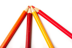 Red and yellow pencils Stock Image