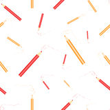 Red and yellow pencils. Pattern Royalty Free Stock Photo