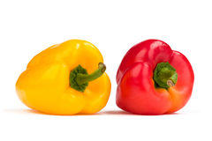 Red and yellow pepper Royalty Free Stock Images