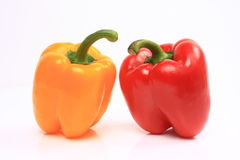 Red and yellow pepper Royalty Free Stock Photography
