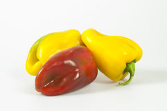Red and yellow peppers Stock Image