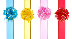 Red, Yellow, Pink, Blue, bows Stock Image